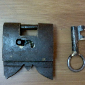 Antique Pad Lock - Tools and Hardware
