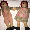 Primitive Raggedy Ann and Andy Dolls