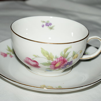 Sophienthal Fine Bayreuth Cup and Saucer - Germany US Zone - China and Dinnerware