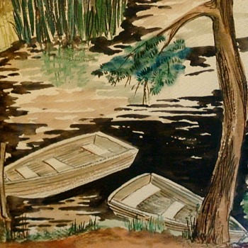 Water Color & Ink Painting By Dona Goer Pittsburgh Center for the Arts Artist of the Year in 1986 - Visual Art