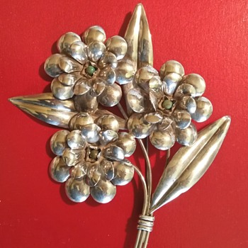 EXCELLENT STERLING SILVER FLORAL BY PRIETO