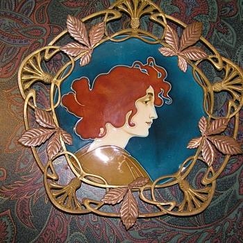 C.S. Luber Art Nouveau Wall Plaques  - Art Nouveau