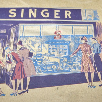 1943 Vintage Singer Dressmaking Guide and Sewing Circle Vintage Needle Books  - Sewing