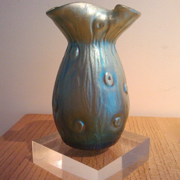 LOETZ CRETA SILBERIRIS RUSTICANA c.1899 - Art Glass