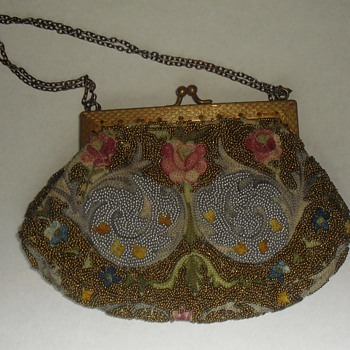 Petit point and (ultra) micro beaded purse...