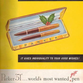 "1948 - Parker ""51"" Pen Advertisement - Advertising"
