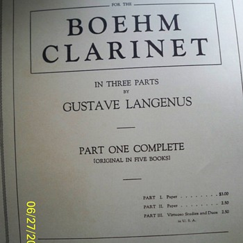 Clarinet Book...and other