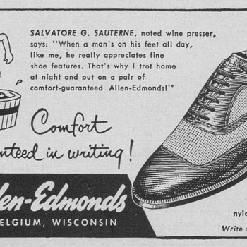 1954 Allen Edmonds Shoes Advertisement