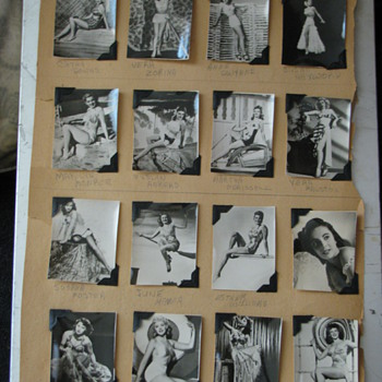 Collection - 16 period photo's of the most Famous and Beautiful Women - 1940's - Photographs