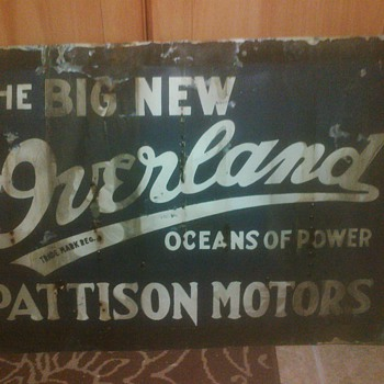 "Pre 1926 ""The Big New Overland"" Advertisement"