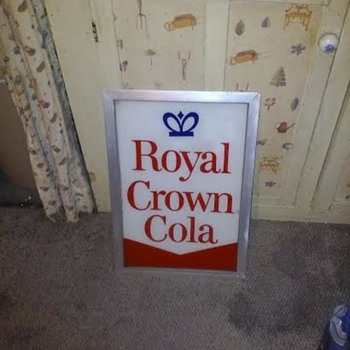 Royal Crown Cola Vending Machine Sign