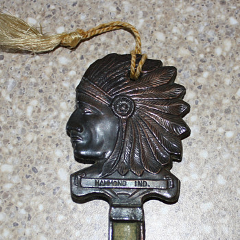 Indian Chief Thermometer Key Souvenir
