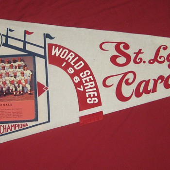 1967  STL Cardinals National League Champions Photo Pennant - Baseball