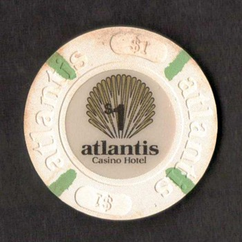 Atlantis Casino Hotel - $1 Gaming Chip