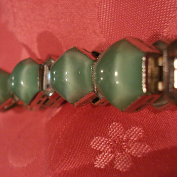 Czech Green Bracelet - Costume Jewelry
