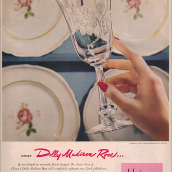 1950 Heisey Glass Advertisement - Advertising