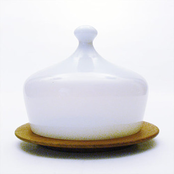 OPALINE cheese bell, Jacob Bang (Kastrup, 1957) - Art Glass