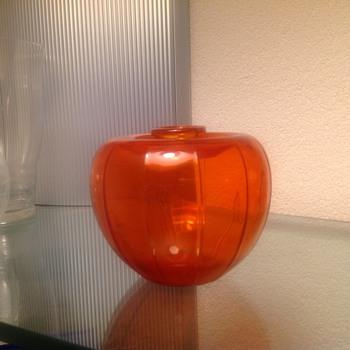 Oranje vaasje bevrijdings vaasje  - Art Glass