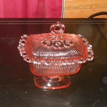 Indiana Glass Covered Candy Dish Spooner
