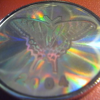 Butterfly Hologram Silver Coin
