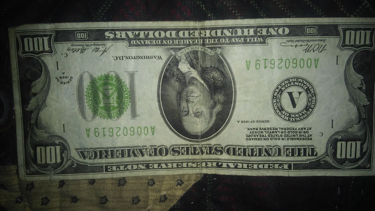 1928 100 Dollar Bill Collectors Weekly