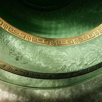 Depression Glass Console Bowl