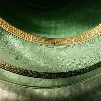 Depression Glass Console Bowl - Glassware