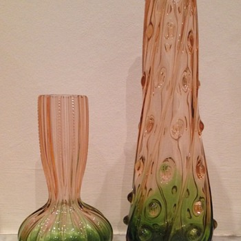 Rubina verde pair - interesting shapes