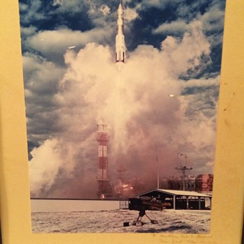 Photograph of the First Titan Rocket Launch 6 Feb. 1959 Signed By Col. Albert Wetzel