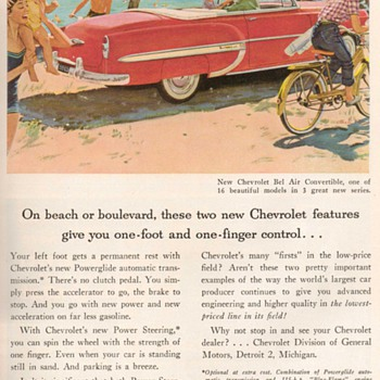 1953 - Chevy Bel-Air Convertible Advertisement - Advertising