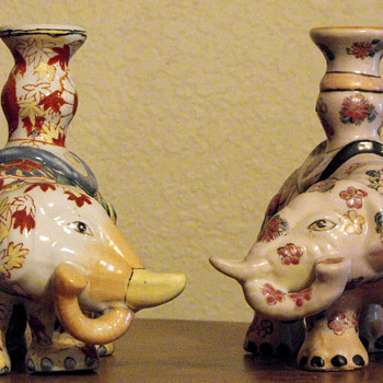 Asian elephant candle holders - Asian