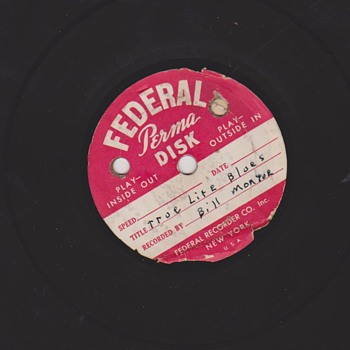 1944 Bill Monroe 78RPM home recordings