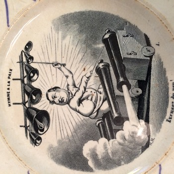 French Plate POLITICAL CARTOON - History?