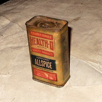 Vintage Health-O Allspice Tin - Advertising