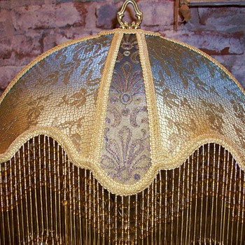 Victorian Lampshade/Gold Lace/Hand Sewn - Victorian Era