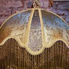 Victorian Lampshade/Gold Lace/Hand Sewn