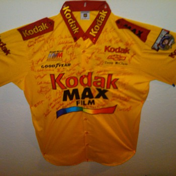 Morgan McClure #4 Kodak Nascar autographed team Jersey - Mens Clothing