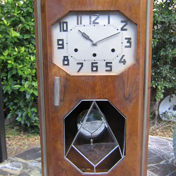 Kienzle Art Deco Chiming Wall Clock, 1920-25 - Art Deco