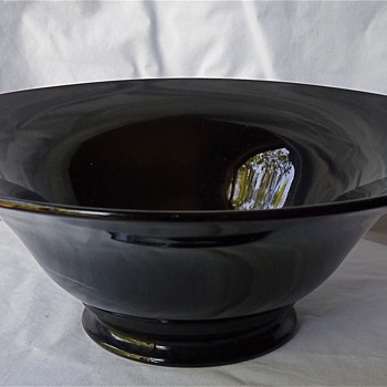 Black glass bowl
