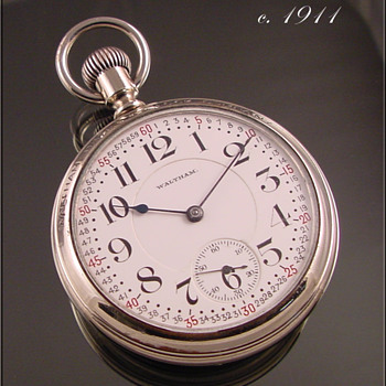 Waltham 23-Jewel Vanguard in a Salesman's Double Crystal Case 1911 - Pocket Watches
