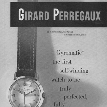 1951 - Girard-Perregaux Watch Advertisement