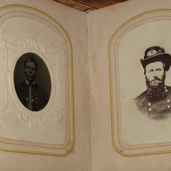 Red Photo Album from 1800's...Picture Found Of Ulysses S. Grant...18th President Of The United States Of America (1869-1877)