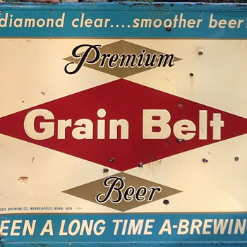 Grain Belt Tin Signs  - Breweriana