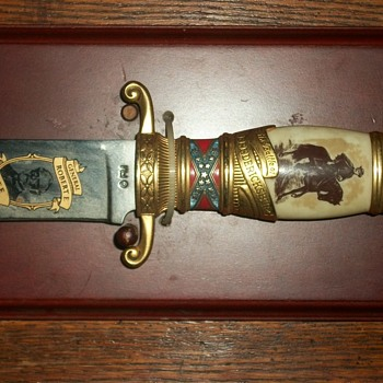 robert e lee franklin mint bowie knife