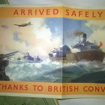 Arrived safely - thanks to British convoys  - Military and Wartime