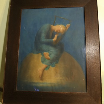 Hope by G. F. Watts - a beautiful antique print i got online