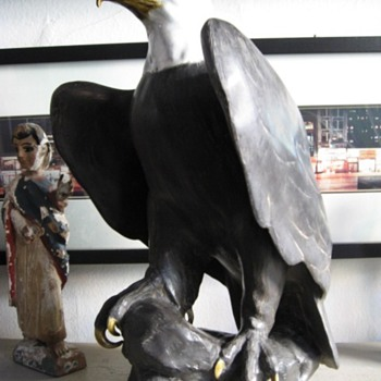 Magnificent Porcelain American Bald Eagle - Art Pottery