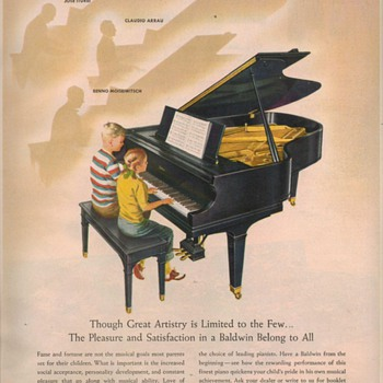 1950 Baldwin Piano Advertisement