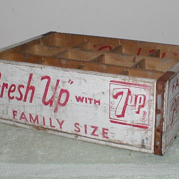 Wooden 7-up bottle crate