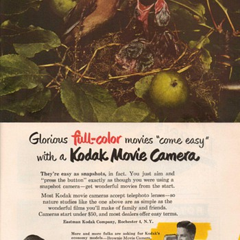 1951 - Kodak Movie Cameras Advertisement - Advertising